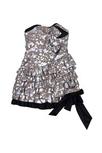 Marc by Marc Jacobs short dress Silver Taupe Silk Strapless on Tradesy