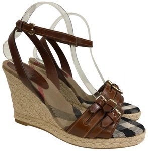 e4302e1ea5205 Brown Burberry Wedges High 3