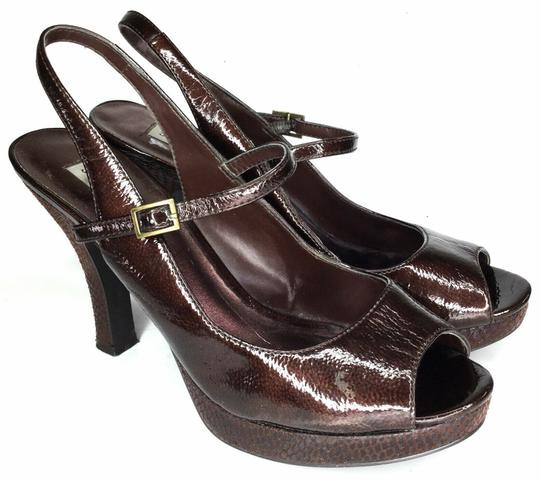 97b57879bc4a Steve Madden Brown Women s Heels Slingback Pumps Size US 8.5 Regular ...