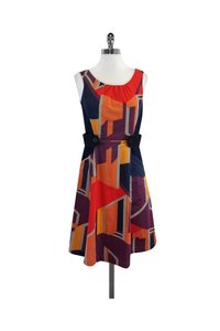 Anni Kuan short dress Multicolor Geo Print on Tradesy
