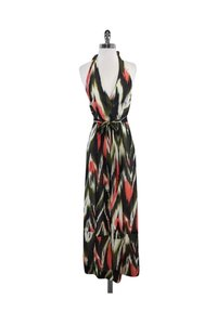 Green Maxi Dress by MILLY Olive Salmon Halter Maxi