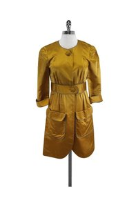 Vera Wang Lavender Mustard Silk Yellow Jacket