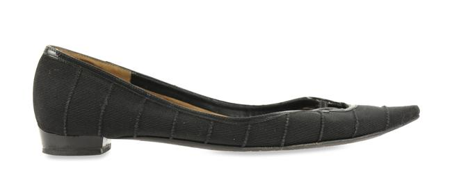 Item - Black Ribbed Pointed Flats Size US 7.5 Narrow (Aa, N)