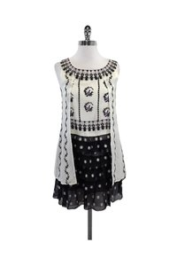Anna Sui short dress Ivory Floral Layered on Tradesy