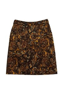 Etcetera Brown Print Skirt Yellow