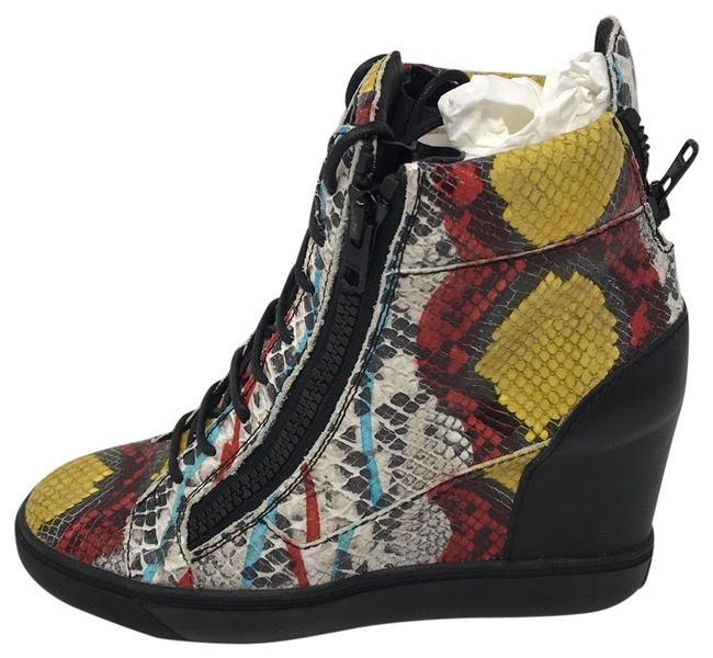 Item - Multi White Black Yellow Red New Sneakers Size EU 40 (Approx. US 10) Regular (M, B)