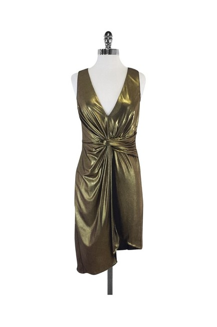Item - Gold Short Casual Dress Size 2 (XS)