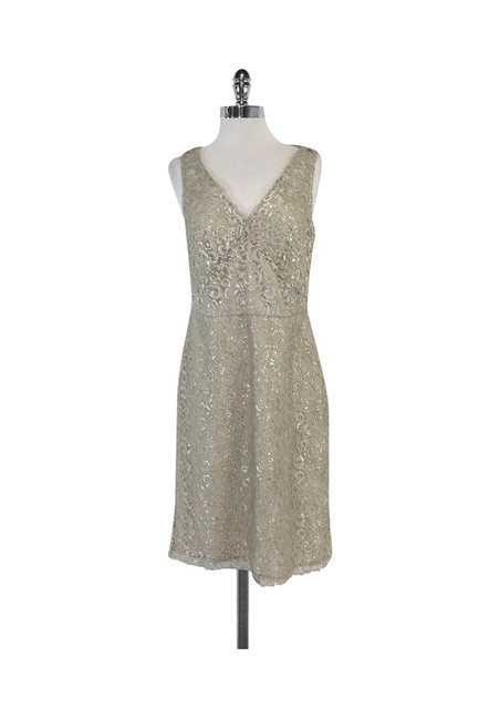 Item - Silver Short Casual Dress Size 10 (M)