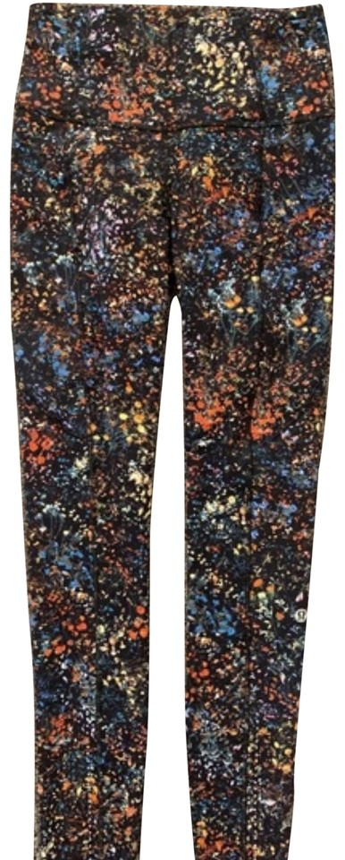 2db653d60a Lululemon Multi Floral Fast and Free 7/8 Tight Activewear Bottoms ...