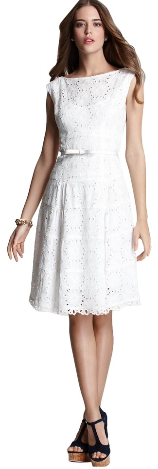 mid length white lace dress nanette lepore white balloon lace mid length short casual 6225