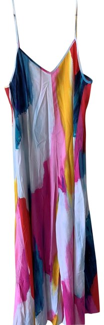 Item - Red Blue Yellow Purple White Cover-up/Sarong Size 4 (S)