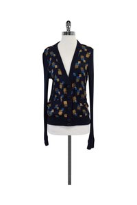 Marc by Marc Jacobs Navy Square Print Cardigan