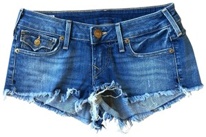 True Religion Cut Off Shorts indigo