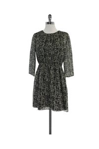 Gryphon short dress Grey Animal Print Silk on Tradesy