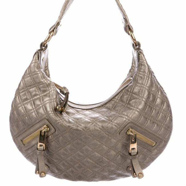 Item - Quilted Bronze Leather Hobo Bag