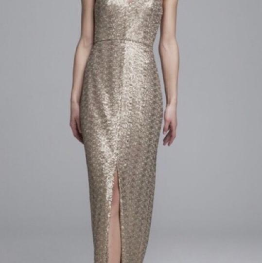 Amsale Latte Sequins G882q Samantha Formal Bridesmaid/Mob