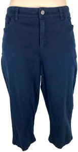 Chaps Cargo Stretch Spandex Casual Capri/Cropped Pants Navy Blue