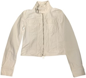 Bally White Womens Jean Jacket
