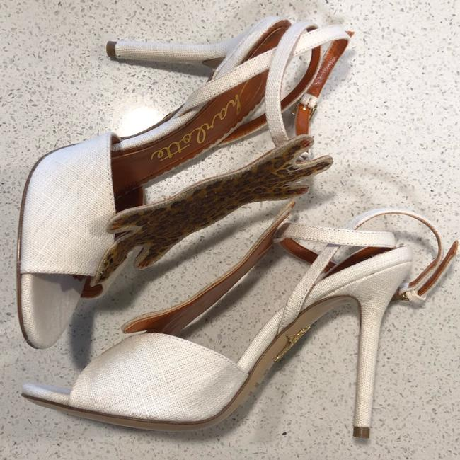 """Charlotte Olympia Ivory Brown Canvas """"african Queen"""" Leopard Heel 35.5 5 Pumps Size US 5.5 Regular (M, B) Charlotte Olympia Ivory Brown Canvas """"african Queen"""" Leopard Heel 35.5 5 Pumps Size US 5.5 Regular (M, B) Image 5"""