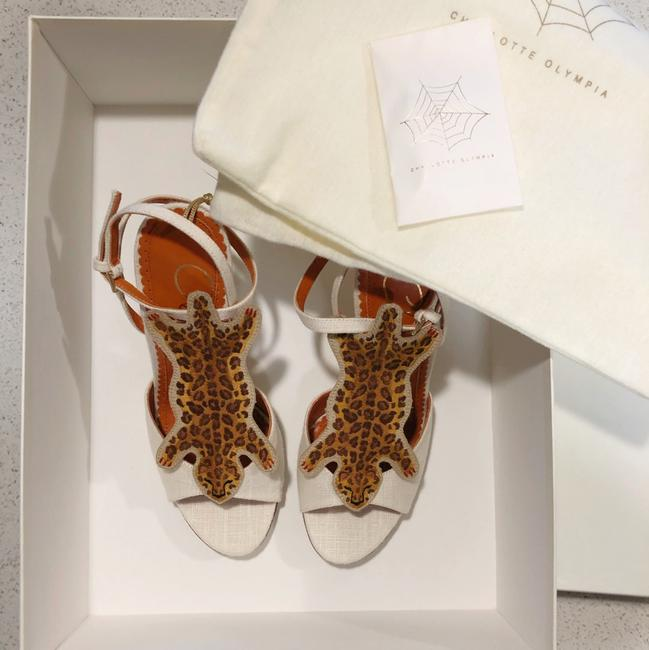 """Charlotte Olympia Ivory Brown Canvas """"african Queen"""" Leopard Heel 35.5 5 Pumps Size US 5.5 Regular (M, B) Charlotte Olympia Ivory Brown Canvas """"african Queen"""" Leopard Heel 35.5 5 Pumps Size US 5.5 Regular (M, B) Image 10"""