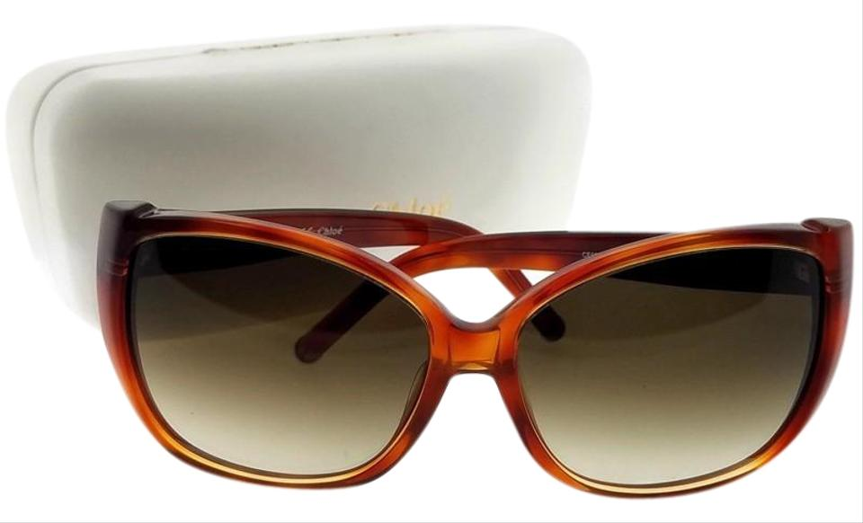 0ea9606c3d3 Chloé Ce608s-725-60 Rectangle Women s Havana Frame Brown Lens Sunglasses