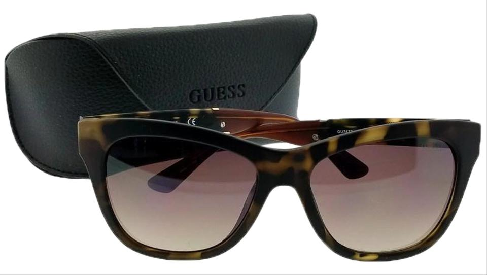 978929858183 Guess GU7472-56F-56 Square Women's Tortoise Frame Brown Lens Sunglasses  Image 0 ...
