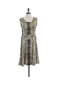 St. John short dress Cream Collection Black Snake Print Knit on Tradesy