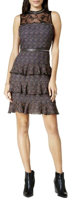 Item - Black By orous Women's Lace-yoke Tiered Short Night Out Dress Size 4 (S)