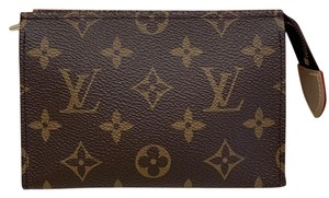 Louis Vuitton Monogram Coated Canvas Brown Clutch