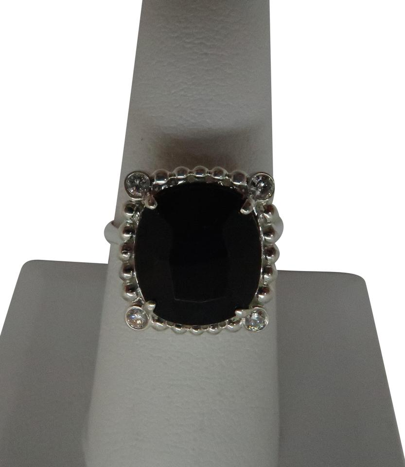 Tiffany Amp Co Sterling Silver Black Spinel And Diamond