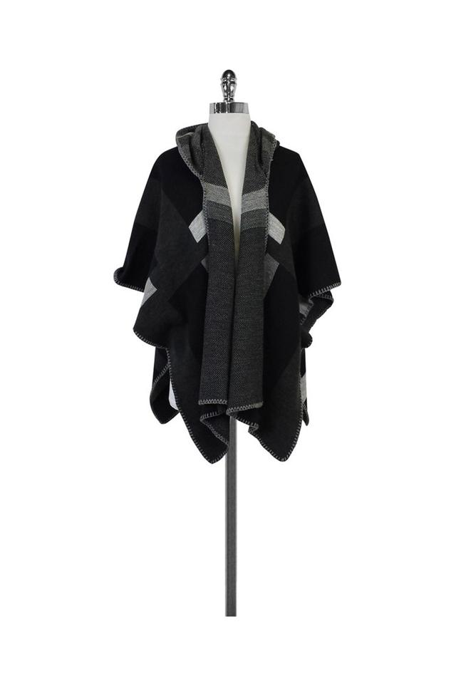 b5a6afbae Michael Stars Grey Black Reversible Hooded Cape Image 0 ...