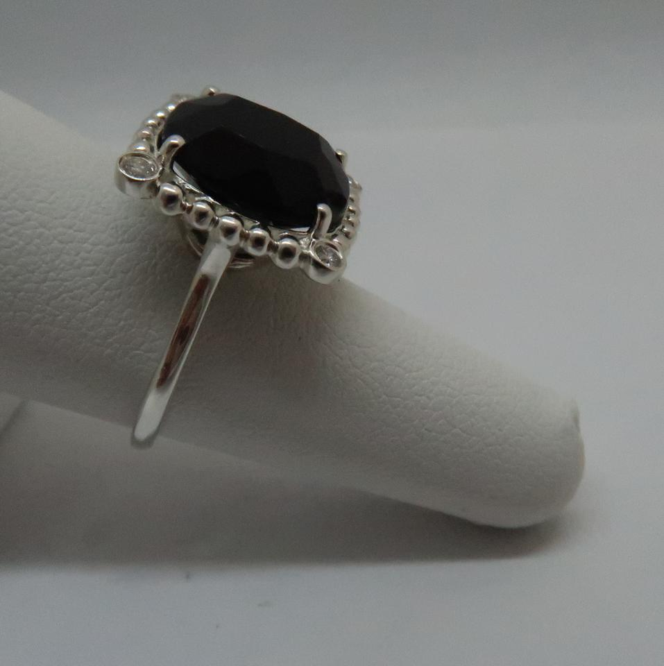 4e89517d2d398 Tiffany & Co. Sterling Silver Black Spinel and Diamond Ziegfeld Collection  Ring 41% off retail