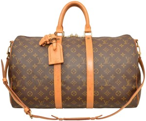 Louis Vuitton Keepall Duffle 50 Bandouliere Carry On Luggage M41416 ...