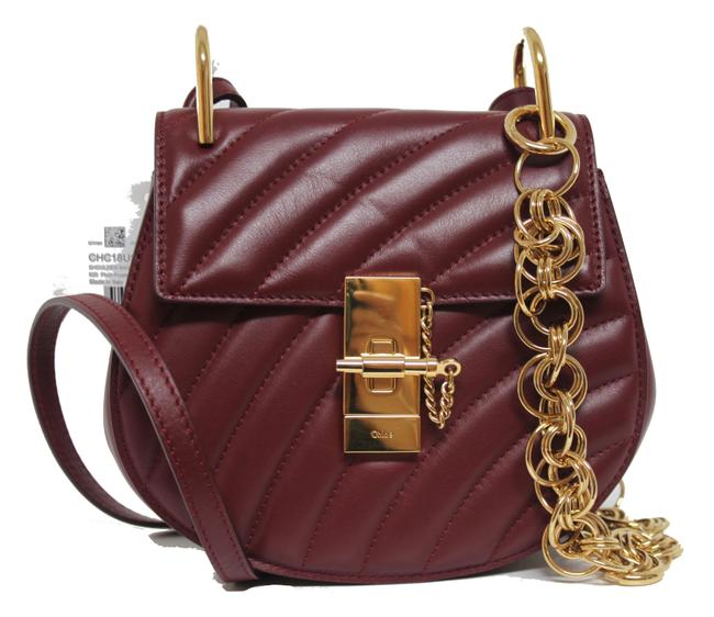 Item - Drew New Mini Bijou Chain Quilted Calf Red Leather Messenger Bag