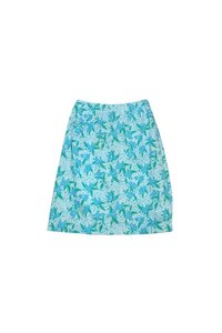 Lilly Pulitzer Green Floral Print Skirt Blue