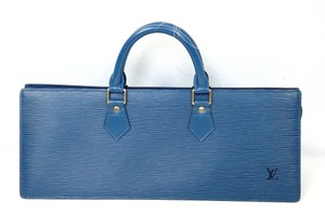 Louis Vuitton Handbag Vintage Epi Leather Triangle Tote in blue