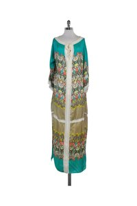 Maxi Dress by Blumarine Multicolor Print Silk Maxi Kaftan