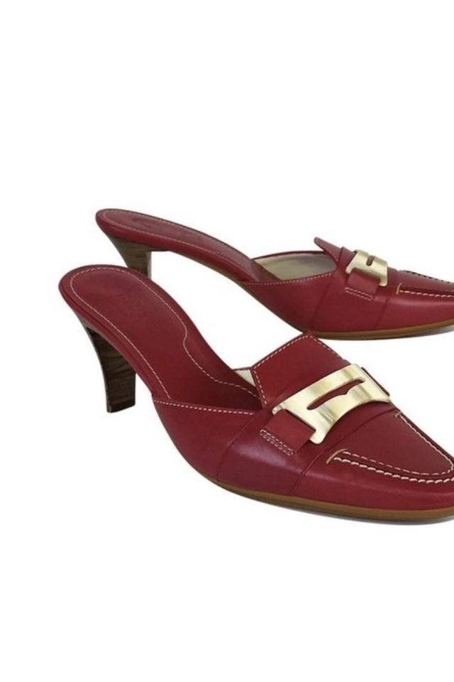 c1087298e79 Tod's Fuchsia Patent Leather Slide On Heels Red Pumps Image 0 ...