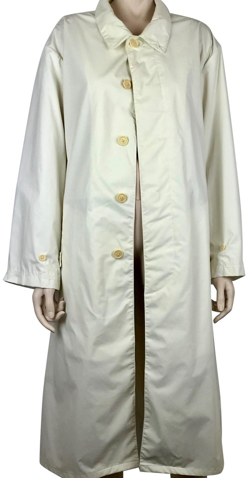 rational construction drop shipping classic chic Polo Ralph Lauren White Cream Slicker Pockets Lightweight Coat Size 12 (L)  79% off retail