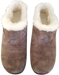 Merrell Suede Sheepskin Taupe Mules