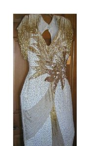 Just Female 20's Vintage Jazzy Pagentry Embellished Dress