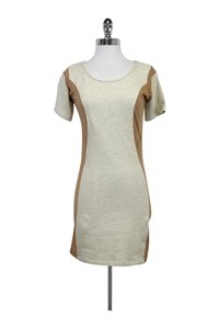 Surface To Air Beige Dress W/ Nude Side Panels Sweater