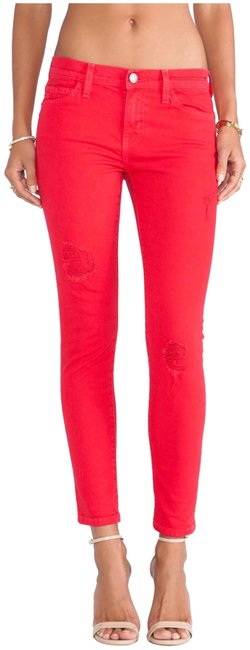 Item - Victory Red Distressed The Stiletto Skinny Jeans Size 2 (XS, 26)