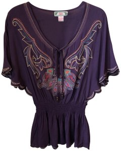 d5b411c4ff1 Flying Tomato Embroidered Rayon Tunic