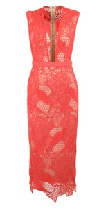 Manning Cartell Coral Lace Mesh Sheer Dress
