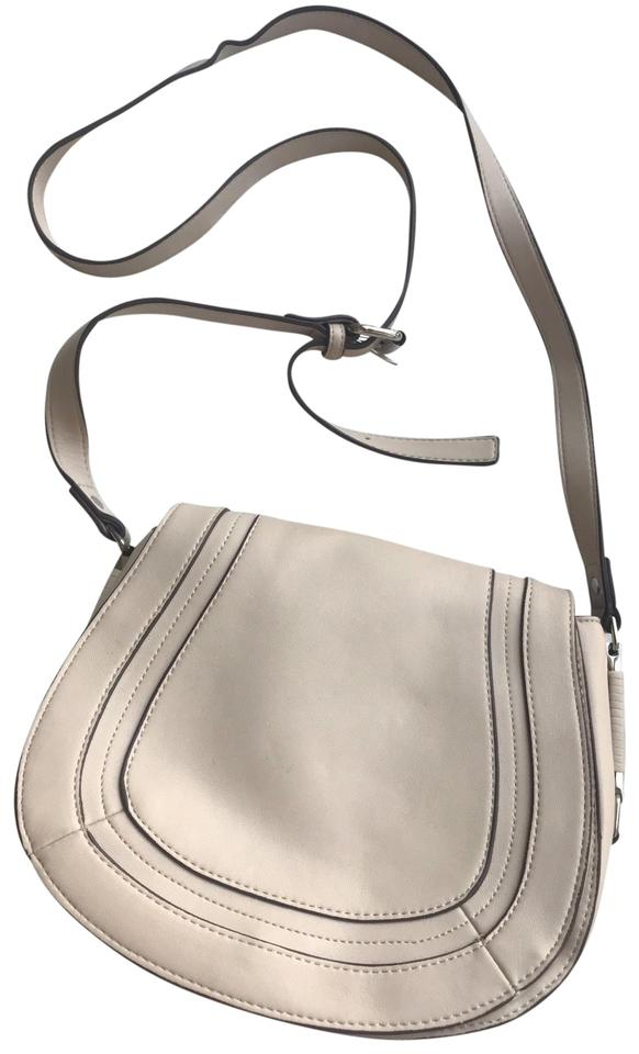 ec424cbcd French Connection Liza Saddle White Faux Leather Cross Body Bag ...