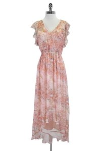 HD in Paris short dress Pink Floral Ruffle on Tradesy