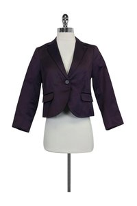 Theory Fitted Purple Blazer