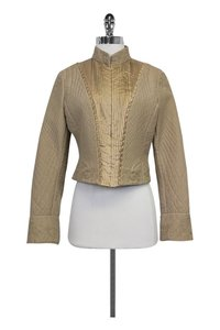 Elie Tahari Quilted gold Jacket