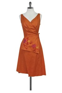 Kenzo short dress Orange Wrap on Tradesy